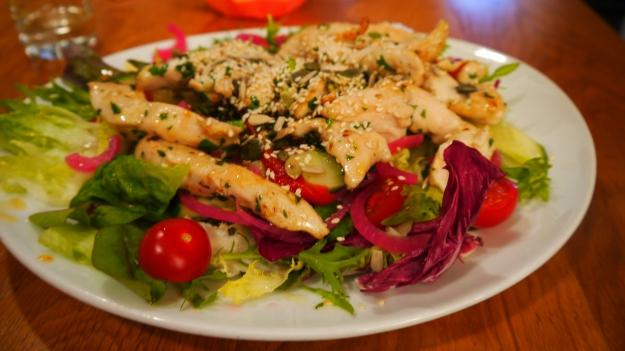 Økologisk kyllingsalat